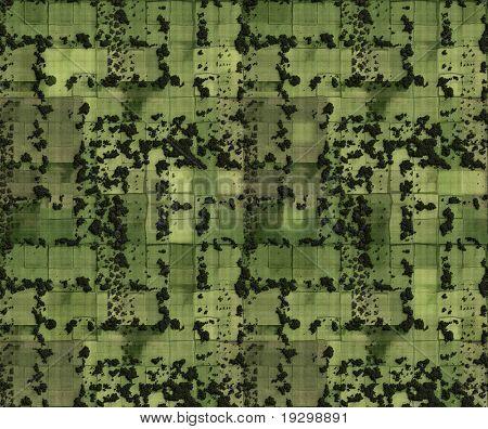 Luft Bild der Felder und fragmentierten Landwirtschaft land
