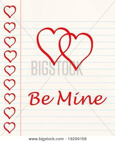 mensagem de amor ou valentines casual escrita em texta em um livro