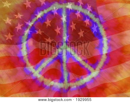 Peace American Flag Reddish