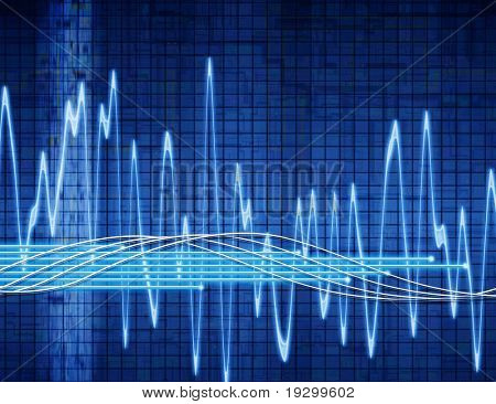great abstract background audio or sound wave image