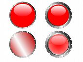 4 Studded Red Buttons
