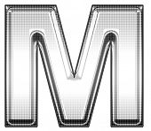 picture of letter m  - upper case m - JPG