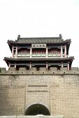 stock photo of qin dynasty  - The great wall watch tower in China  - JPG
