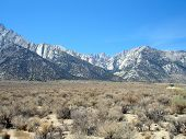 stock photo of mt whitney  - California desert landscape with Mt - JPG
