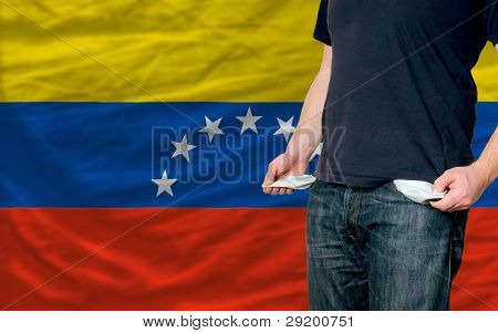 Recession Impact On Young Man And Society In Venezuela