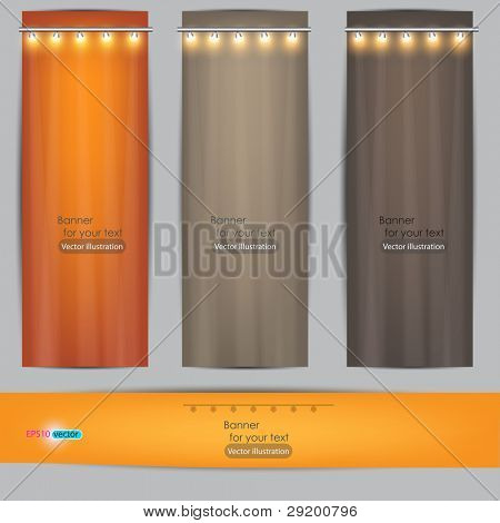 Banner vazio para a publicidade de produto com iluminação