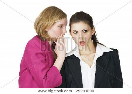 Office Girls Sharing Secret