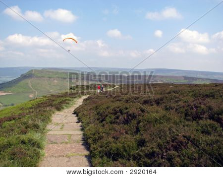 Paragliding And Walking