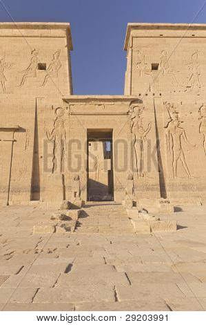Entrance To The Temple Of Isis At Philae Island.( Egypt)