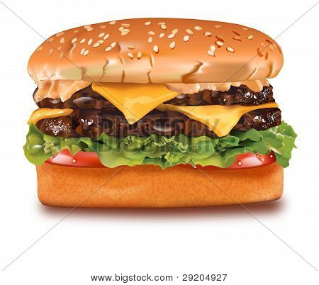 Vector Cheeseburger
