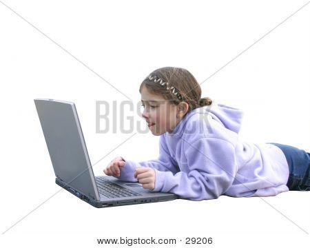 Girl On Computer 2