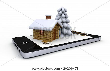 Winter On Mobile Phone