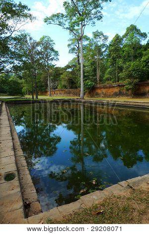 reflecting pool in Phimeanakas, Angkor, Cambodia