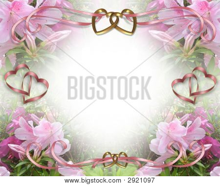 Wedding Invitation Pink Azaleas 2