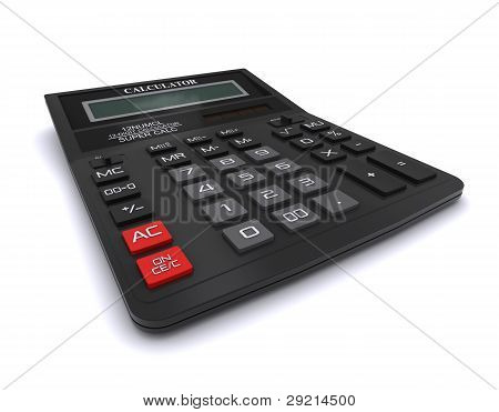 Black office calculator
