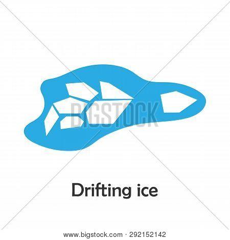 Drifting Ice In Cartoon Style