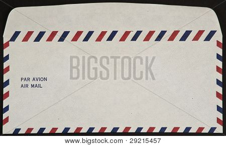Air Mail Envelope Isolated On Black Background