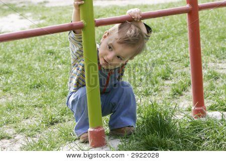 Cute Baby Boy Outdoor Portrait