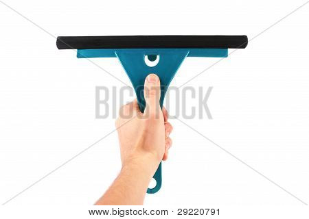 Hand With Window Cleaning Tool