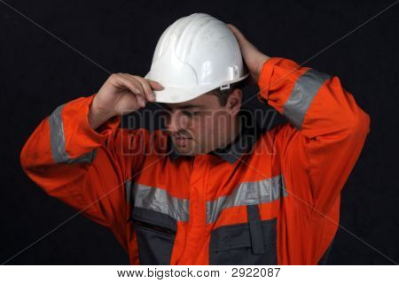 Portrait Of A Mine Worker