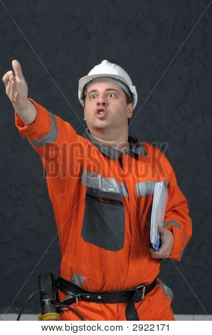 Angry Mine Worker With File