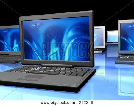 Red de ordenadores portátiles