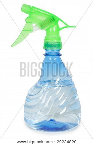 Blue Flower Sprayer With Water Isolated