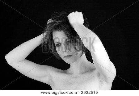Brunette Monochrome - Hand On Head