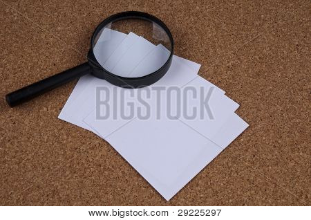 Magnifying on the Cork Board