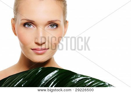 Blond Woman With Healthy Complexion And Fresh Clear Skin