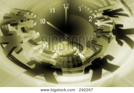 People And Clock