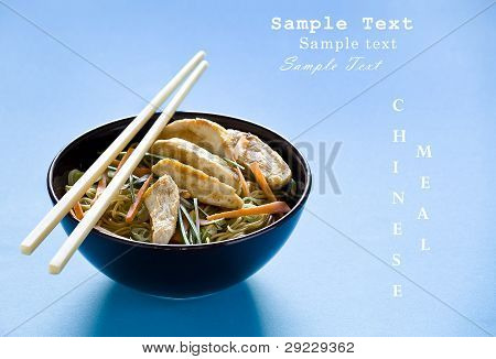 Chicken Chinese Meal With Text