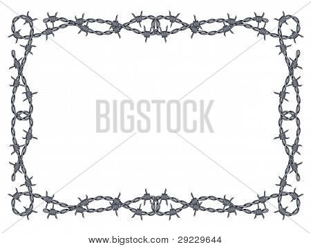Barbed Wire Frame Vektor