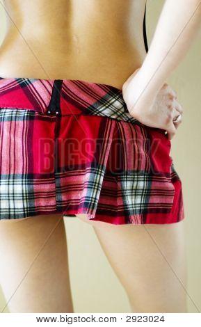 Sexy Mini Plaid Skirt