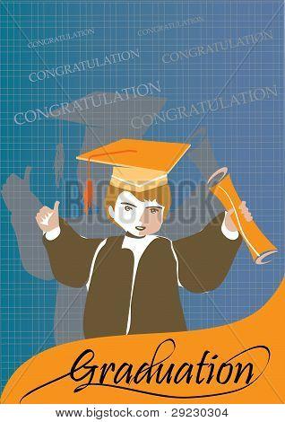 Graduation congratulation celebration