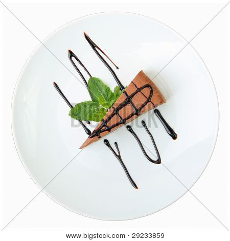Piece Of Chocolate Cheesecake