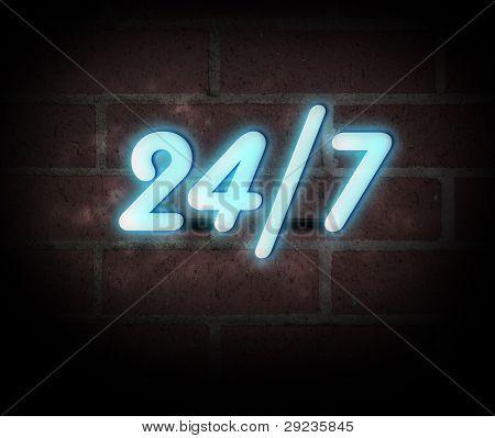Neon Sign 24 7