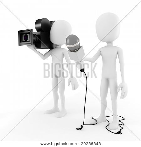 3d man reporter - interview