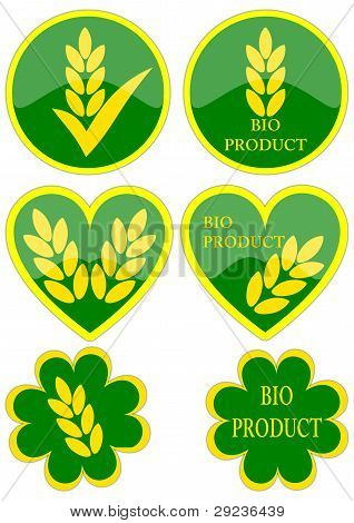 Various green icons