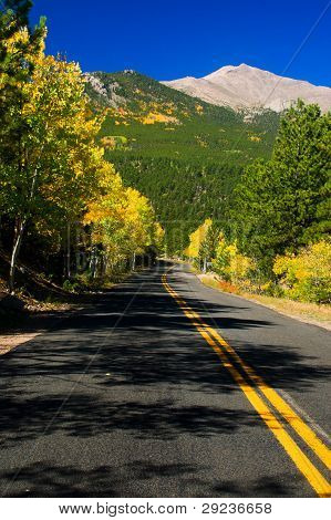 Colorado Road In Fall