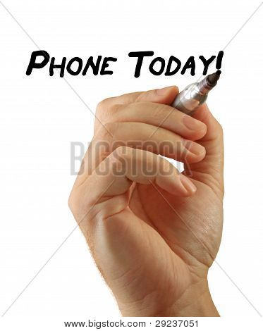 Hand Writing Power Phrase Phone Today