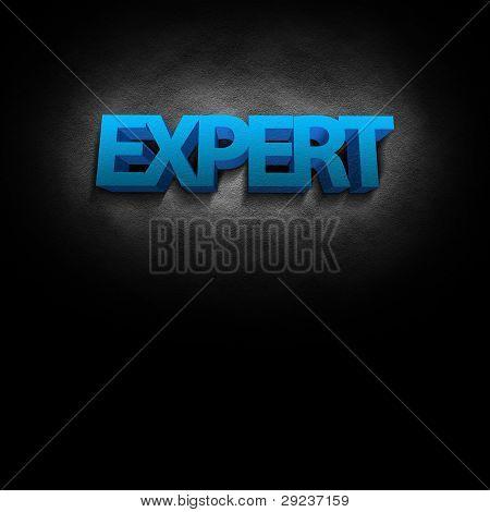 3D Text Konzept expert