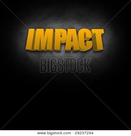 3D Text Concept Impact