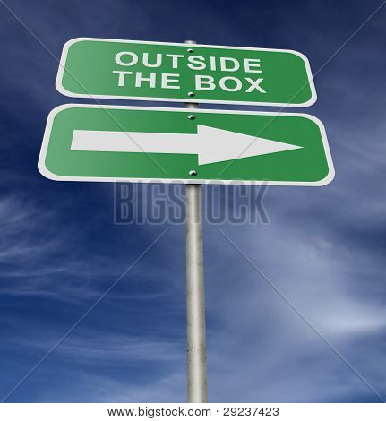 Street Road Sign Outside The Box