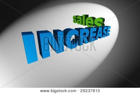 3D Text Concept Increase Sales