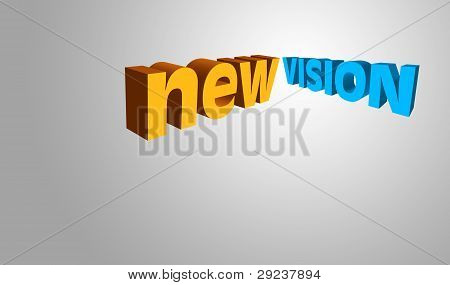 3D Text Concept New Vision