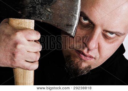 Serial killer with axe