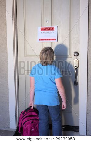 Young Child Locked Out Of House