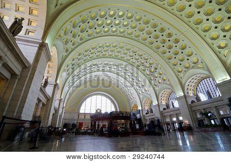 Union Station interior architecture, Washington DC United States