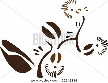 Coffee with floral design